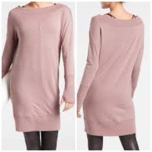 Athleta Studio Barre Sweatshirt Dress